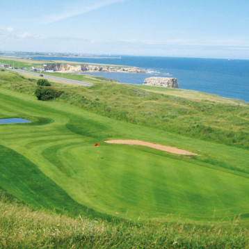 Taking in the sea air at Whitburn Golf Club