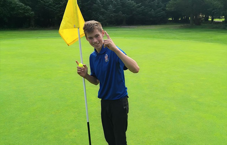 Barnard Castle junior records two aces in one round